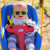 slimer bright green baby shades - ro•sham•bo baby sunglasses
