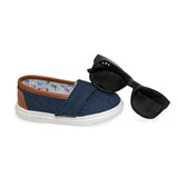 "Denim ""Baby Steps"" Shoes + Shades Gift Set"
