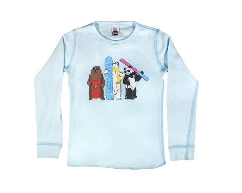 ro•sham•bo exclusive snow bears thermal tee - ro•sham•bo baby - sunglasses - kids sunglasses - baby sunglasses - 1