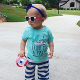 rainbow brite pink & white toddler shades