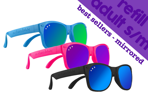 ADULT S/M | 6-Pack of Best Sellers w/ Mirrored Lens - ro•sham•bo baby sunglasses