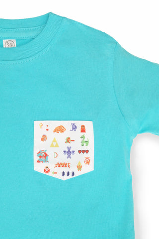 KIDS 8-BIT TRIFORCE POCKET TEE