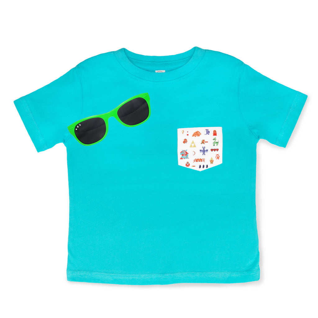 8-BIT TRIFORCE & Mint Shades Gift Set (Toddler) - ro•sham•bo baby sunglasses