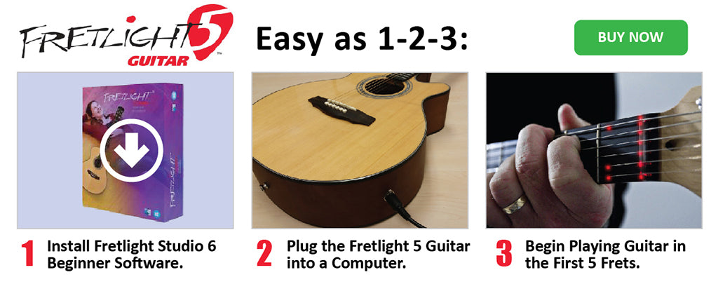 Fretlight 5 Easy as 1-2-3