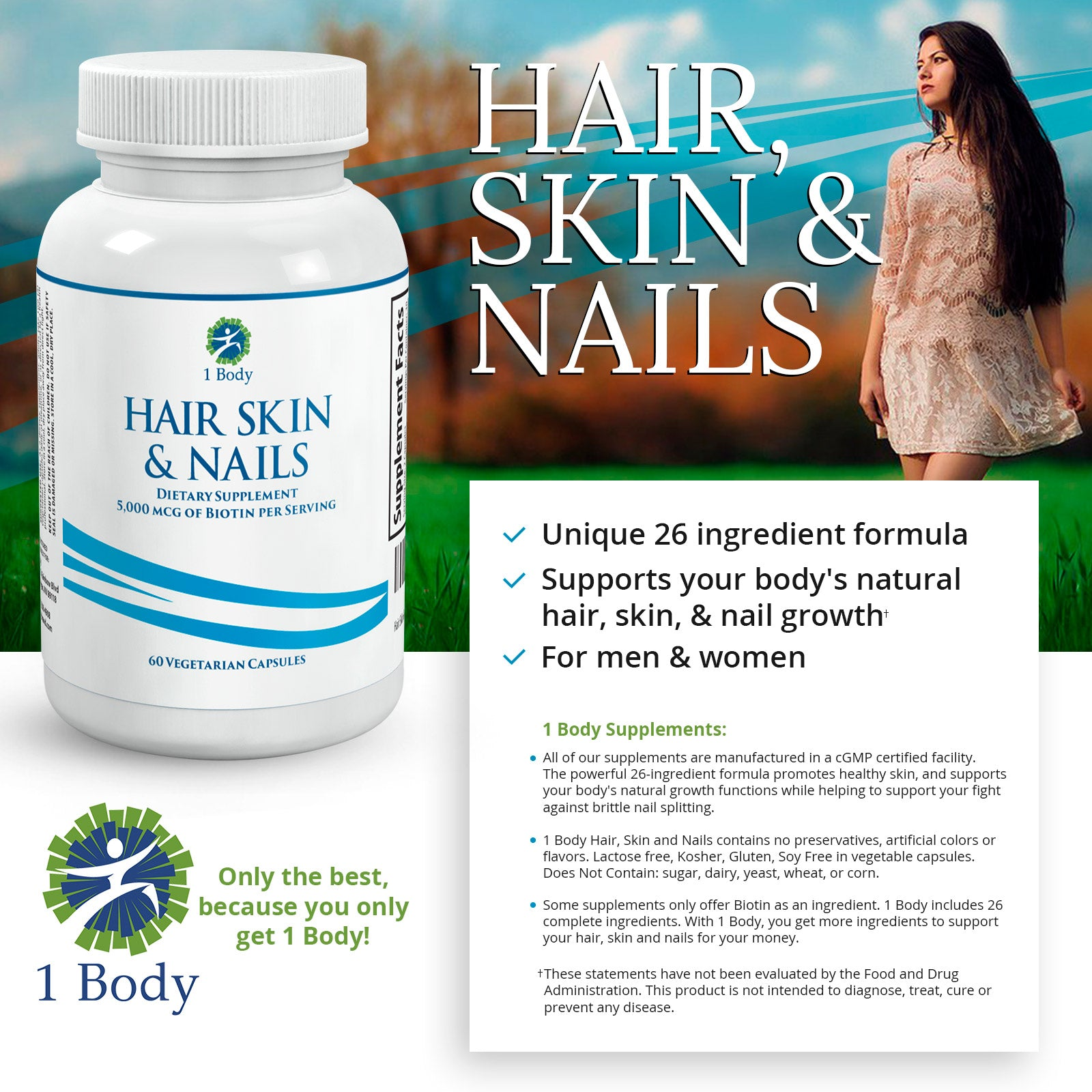 Hair, Skin & Nails – 1 Body