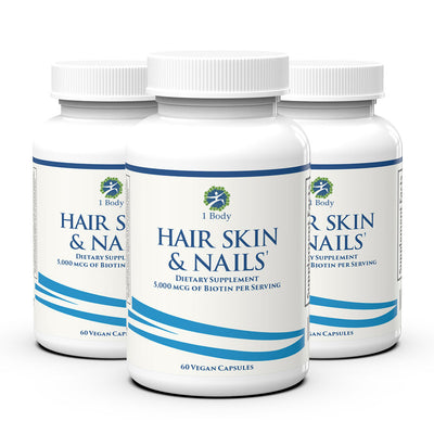 3 Bottles of ~ Hair, Skin & Nails ~ 33% OFF