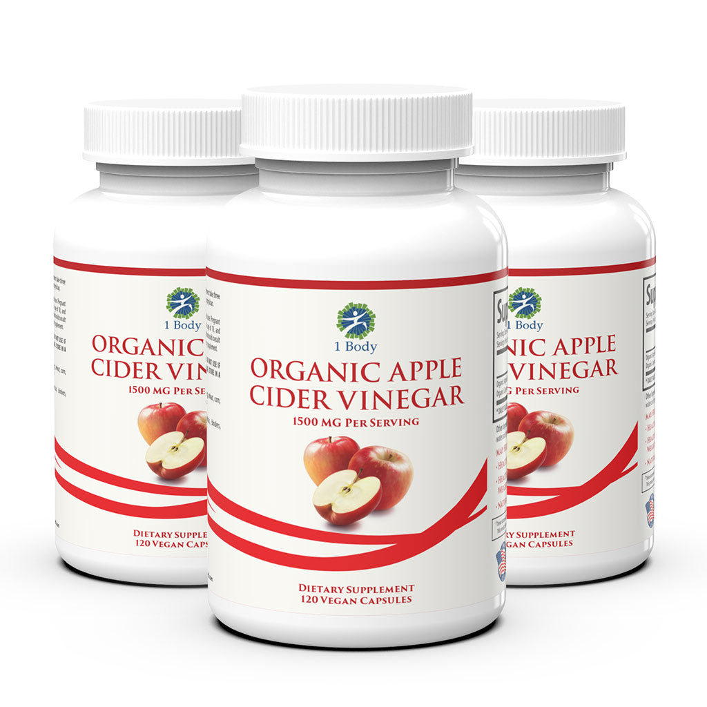 3 Bottles of ~ Organic Apple Cider Vinegar - 33% OFF