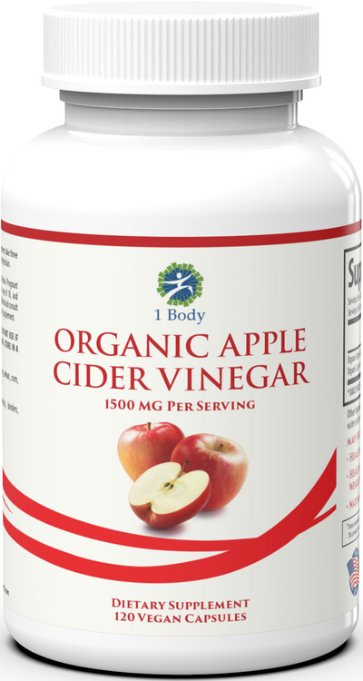 Organic Apple Cider Vinegar - 120 Capsules - 10% Off - Sub
