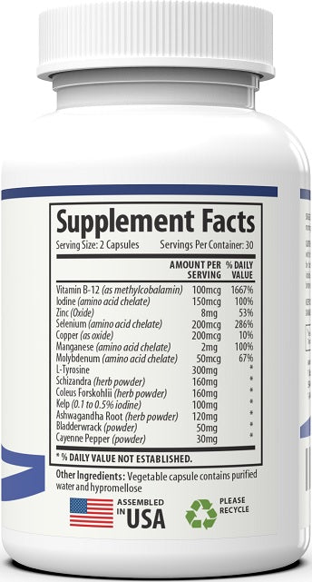 Thyroid Support - 4 bottles 30 Day Protocol