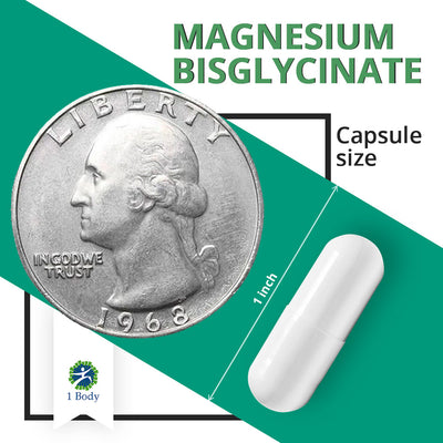 Magnesium Bisglycinate - 3 Bottles - 33% OFF