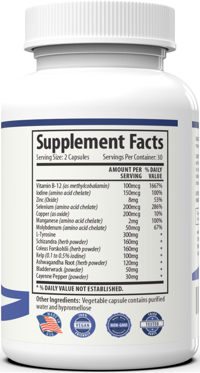 Thyroid Support - 2 Bottles 30 day protocol
