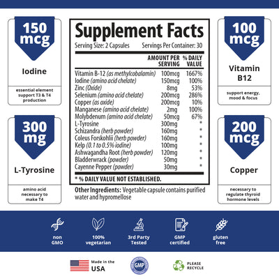 Thyroid Support - 6 Bottle Bundle