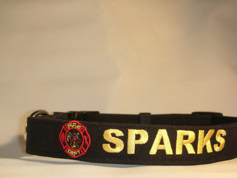 Fire Department custom dog collar.