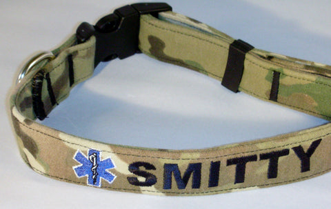 EMS custom dog collar.