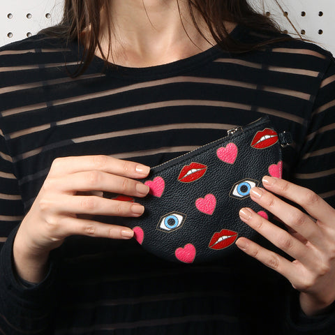 Eyes Lips & Hearts Pouch