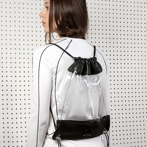 See Thru Drawstring Backpack