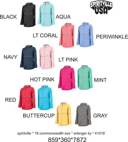 Rain Jackets Full Zip