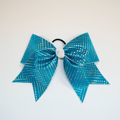Teal Jewel Bow