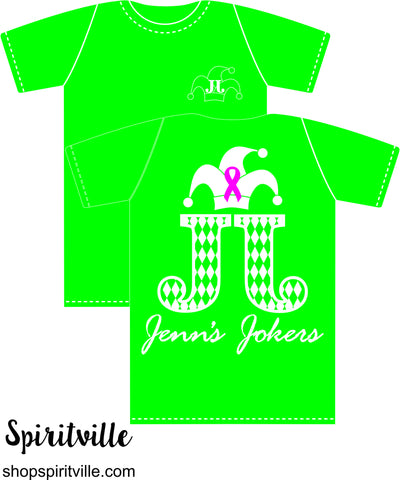 Jenn's Jokers Green Short Sleeve T