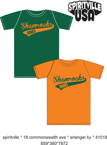 Shamrocks script with tail