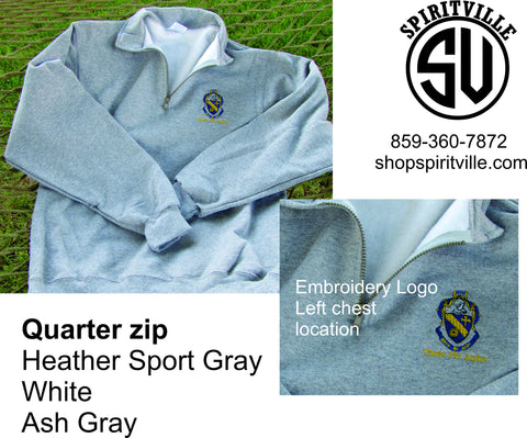 Quarter Zip with Crest