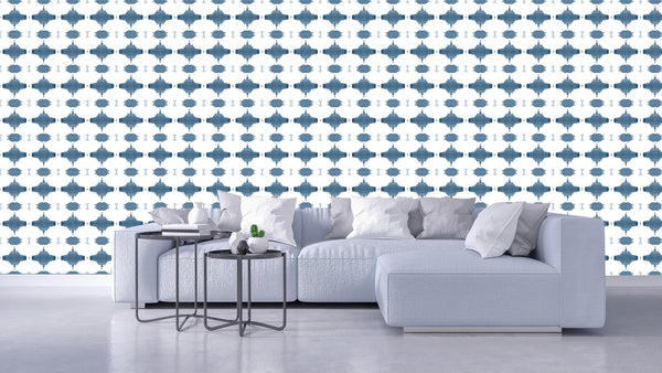 10216 French Blue Alta Non-Woven Wallcovering: lindsay cowles llc
