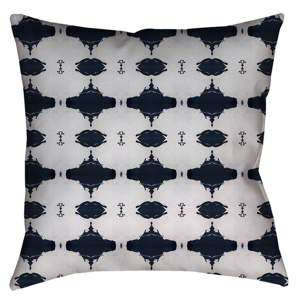 Navy White Pillow Cover