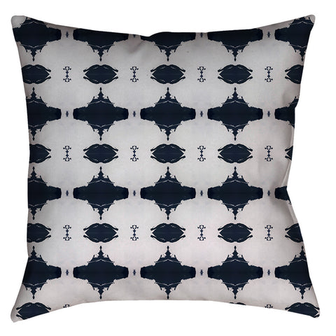 10216 Navy White Pillow Cover