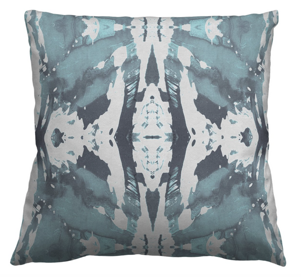 125-5 Blue Grey Pillow Cover