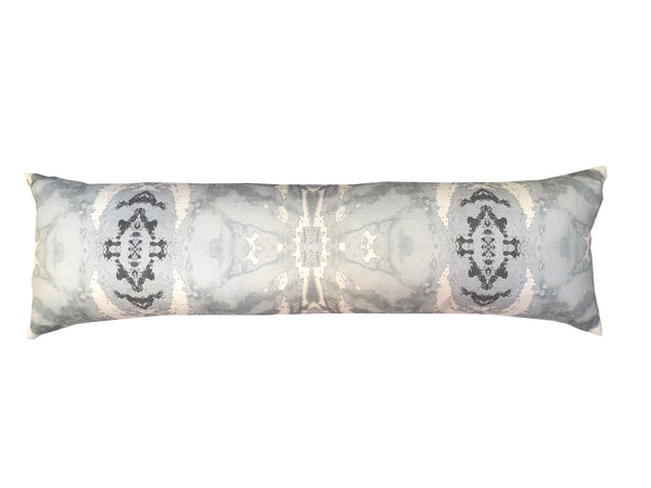 125-5 Grey Ivory Extra Long Lumbar Pillow