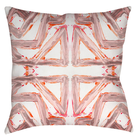 24-3 Pink Orange #2 Pillow Cover
