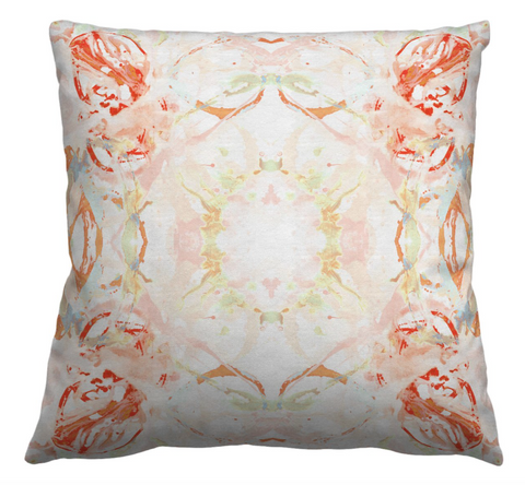 411 Red Peach Mint #1 Pillow Cover