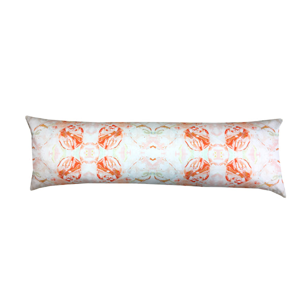 411 Red Peach Mint Extra Long Lumbar Pillow