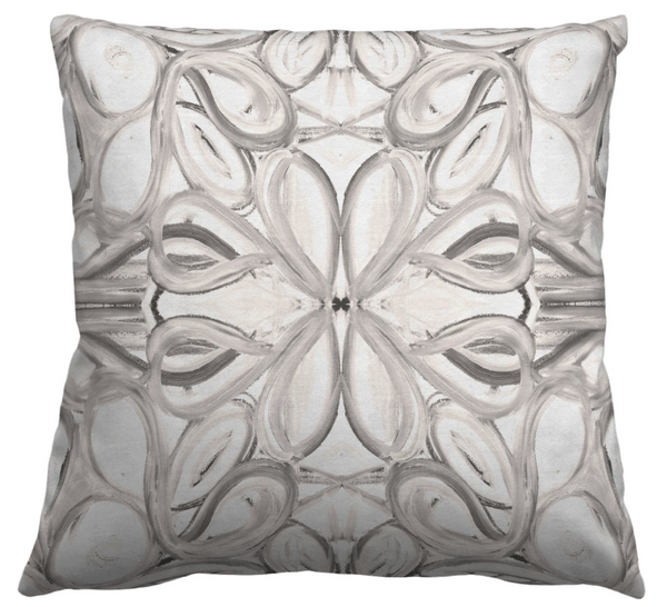 5114 Grey White Pillow Cover