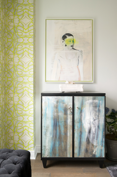 51514 Chartreuse Wallcovering
