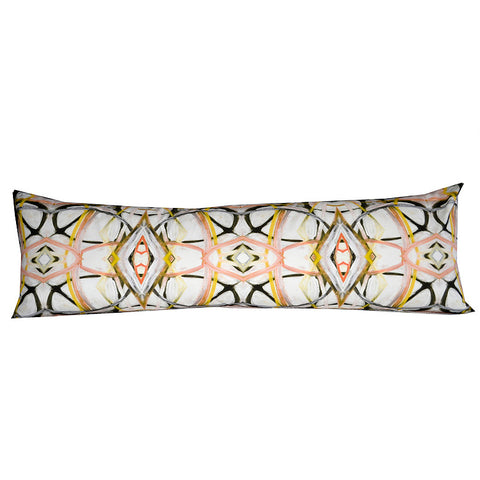 6314-3 Peach Extra Long Lumbar Pillow