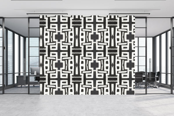 81613 Black White Inverse Eco-Friendly Type II Wallcovering