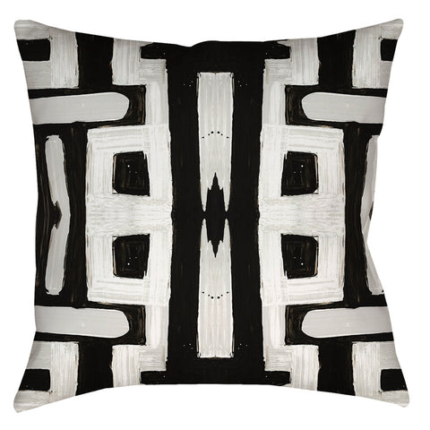 81613 Black White Inverse Pillow Cover