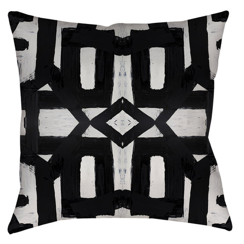 82113 Black White #2 Pillow Cover