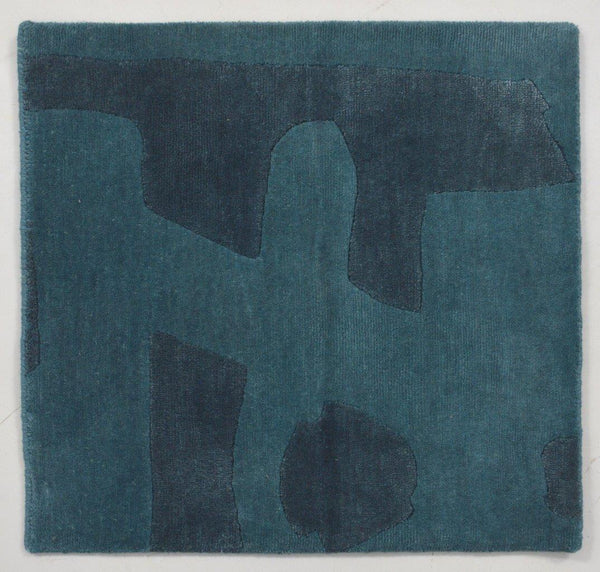 82113 Teal Wool/Silk 5'x9' Rug :: IN STOCK