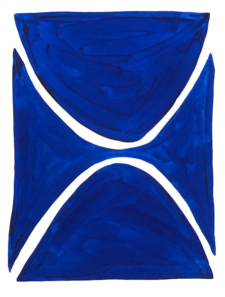Blue and White Shape Series III