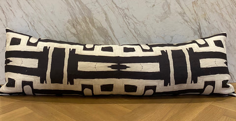 81613 Black White Inverse Extra Long Lumbar Pillow :: IN STOCK
