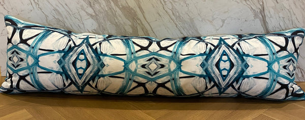 6314-3 Aqua Extra Long Lumbar Pillow