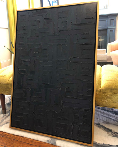 Black on Black Original Painting