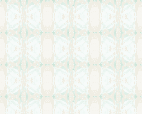 125-5 Teal Ivory A Standard Wallcovering
