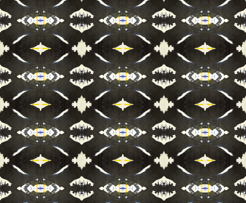 125-4 Black Yellow A Wallcovering