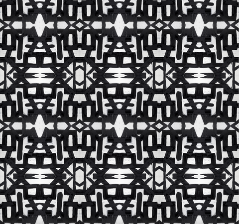 82113 Black White Type II Wallcovering