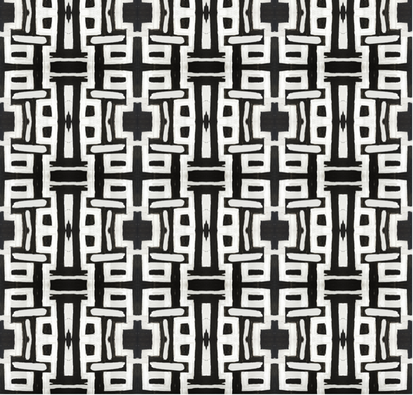 81613 Black White Inverse Type II Wallcovering