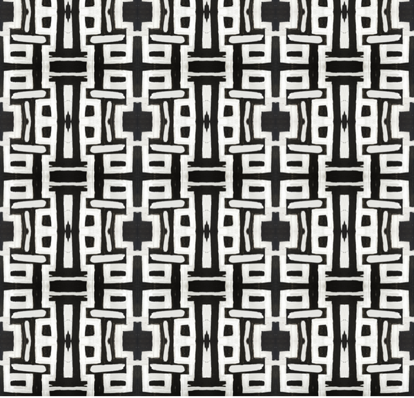 81613 Black White Inverse Alta Wallcovering