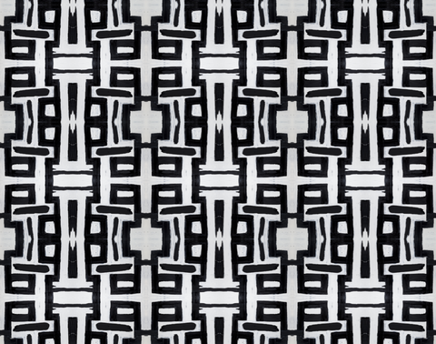 81613 Black White Alta Non-Woven Wallcovering: lindsay cowles llc